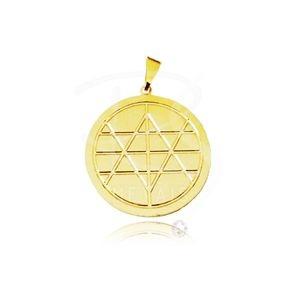 Mandala de Xangô BANHADA a Ouro 18k-750