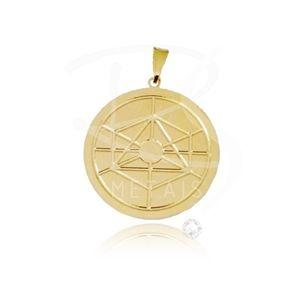 Mandala de Obaluaiê - BANHADA a Ouro 18K-750