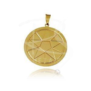 Mandala de Ogum - BANHADA a Ouro 18k-750