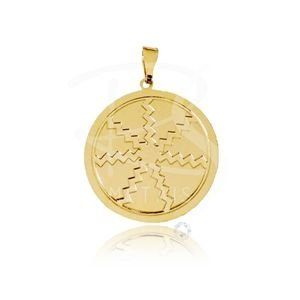 Mandala de Egunitá - BANHADA a Ouro 18k-750