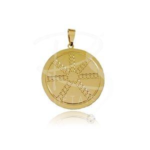 Mandala de Oxumaré - BANHADA a Ouro 18k-750