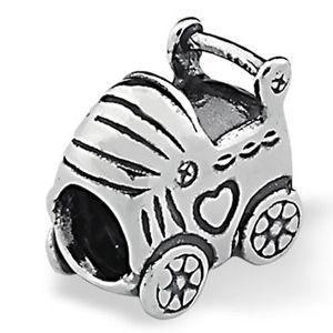 Berloque Carrinho de Bebê em Prata 925 - Linha Dreams