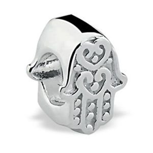 Berloque Mão de Hamsa em Prata 925 Envelhecida - Linha Dreams
