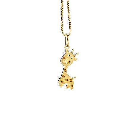 Pingente Girafa em Ouro Amarelo 18K