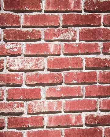 97e71b9c0 Papel de parede importado vinílico lavável texturizado tijolinho vermelho  rolo 0.53x9.50m