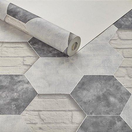 c5cd251c6 Papel de Parede Importado Vinílico Lavável Texturizado Tijolinho Lajota 3D  Rústico