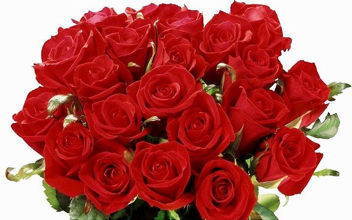 Buquê com 18 Rosas Vermelhas