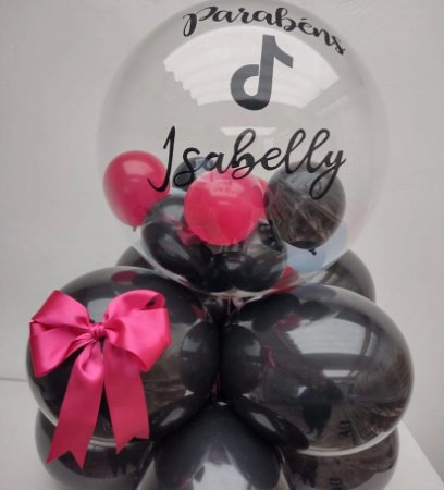 Arranjo Balão Bubble Decorado Personalizado