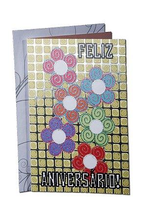 Cartão Aniversário 11,5 x 17,5  - 02