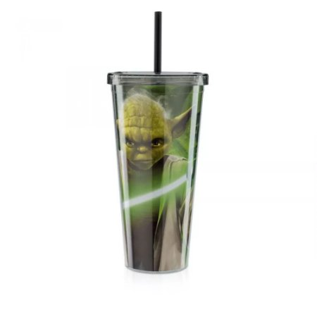 Copo Canudo - Star Wars SW Força YODA