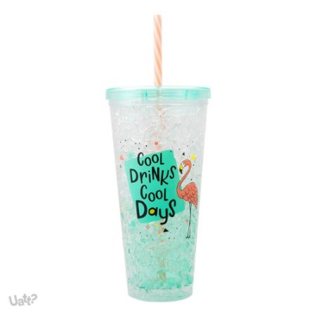 Copo Canudo Térmico Ice Gel - Cool Drink, Cool Days