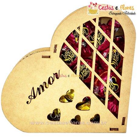 Coração de Chocolates Porta Jóias