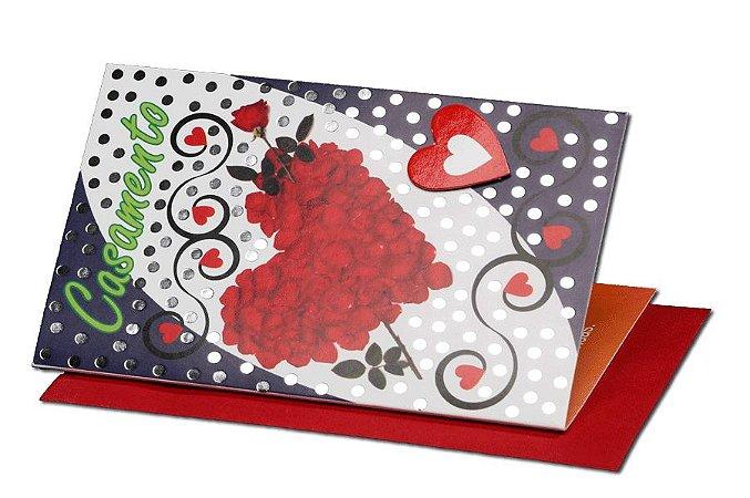 Cartão Casamento e Bodas 7,5 x 11  - 09