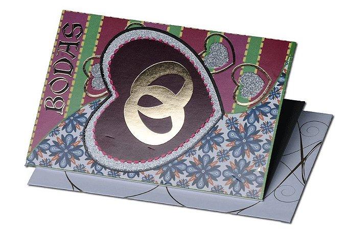 Cartão Casamento e Bodas 7,5 x 11  - 12