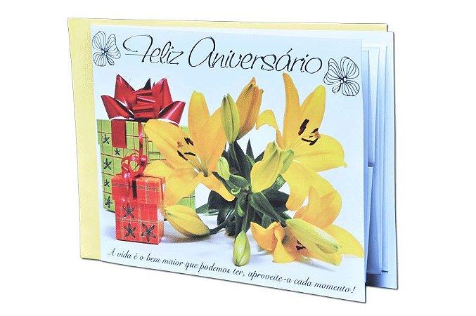 Cartão Aniversário - 21,6 x 15,8 - 01