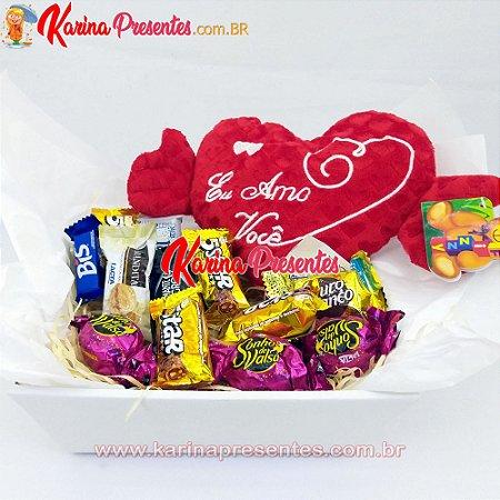 Cesta Mini - Chocolates e Coração TE AMO