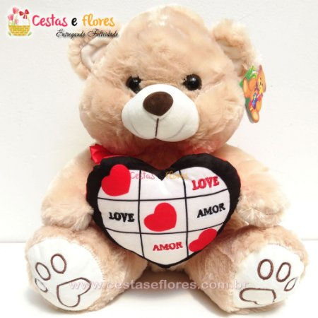 Urso de Pelúcia LOVE AMOR