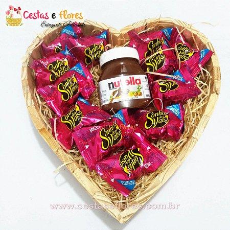 Coração de Chocolates Sonho de Valsa + NUTELA