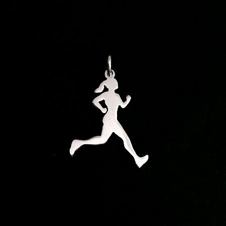 Pingente Atleta Corredora - Feminino - Prata 950