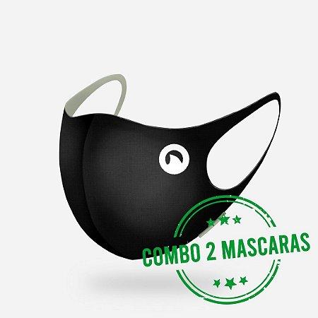Kit 2 Máscaras Multiesportiva com Elastano para Proteção Facial CORTUBA