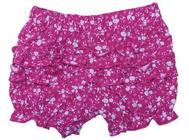 Short Estampado Com Tutu - Pink Flor