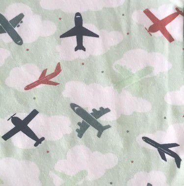 Macacão Com Zíper - Avião Verde
