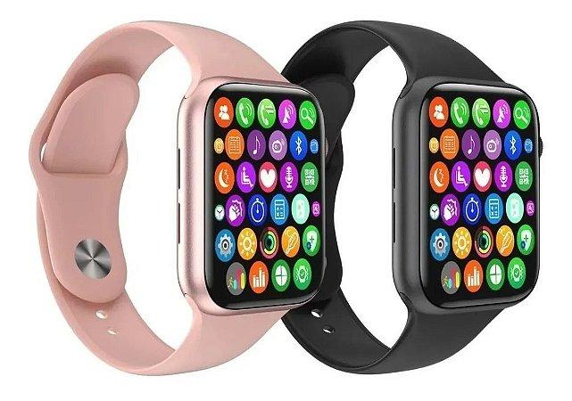 Relógio Inteligente IWO12 SmartWatch Troca Pulseira Ligações Monitor Cardíaco Android e iOS