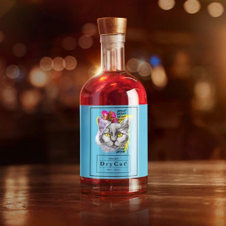 PINK GIN DRYCAT 750 ML