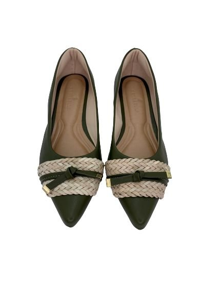 POINTED CHORD & LACE - VERDE MILITAR