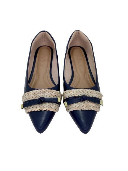 POINTED CHORD & LACE - NAVY BLUE