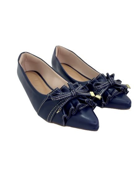 POINTED BABADOS - NAVY BLUE