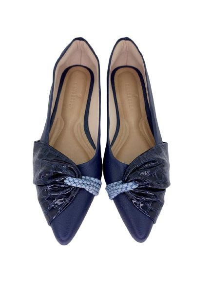 POINTED HALF LACE - NAVY BLUE