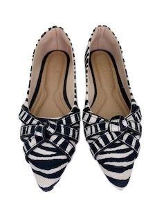 Sapatilhas Pointed Nó Triplo Zebra
