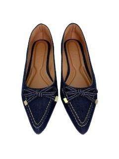 Sapatilhas Pointed  Mocassim Jeans