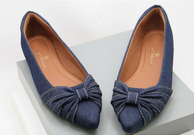 Pointed Laçarote - Blue Jeans
