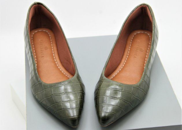 POINTED CLASSIC CROCO - VERDE