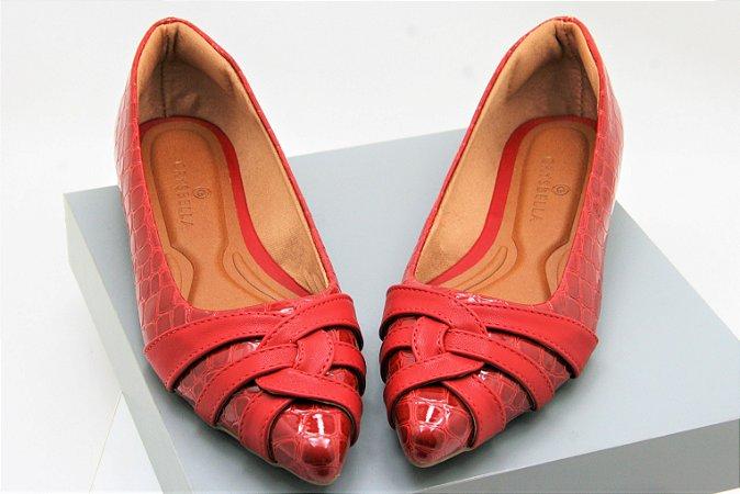 Pointed Curvy - Croco Vermelha