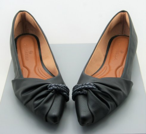 POINTED HALF LACE - BLACK