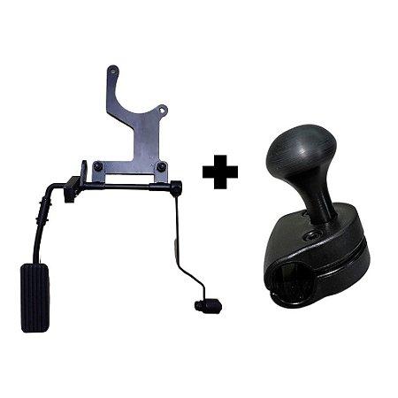 Acelerador Esquerdo + Pomo Giratório Removível