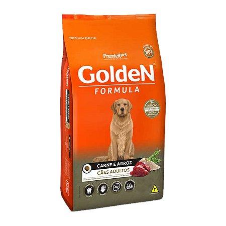 Ração Golden Fórmula para Cães Adultos Sabor Carne e Arroz 15kg