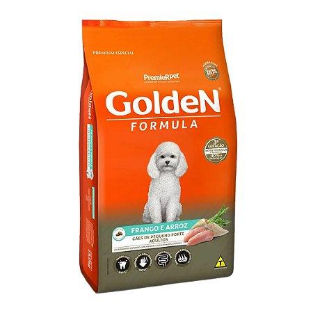Ração Golden Fórmula Mini Bits Para Cães Adultos Pequeno Porte Sabor Frango e Arroz 15kg