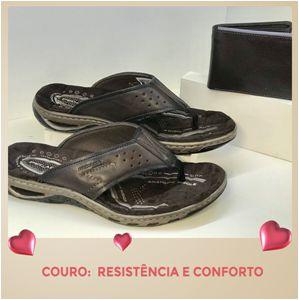 SANDÁLIA EM COURO CONFORTÁVEL