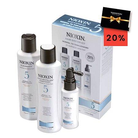 Kit Nioxin Sistema 5 - Shampoo 250ml + Condicionador 250ml + Tratamento 50ml [voucher 20%]