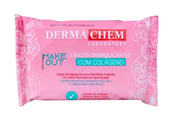 Dermachem - Make Out Lenços Demaquilantes Com Colágeno 25un