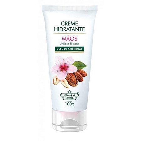 Flores & Vegetais - Creme Hidratante Mãos Uréia e Silicone 100g