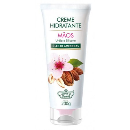 Flores & Vegetais - Creme Hidratante Mãos Uréia e Silicone 200g