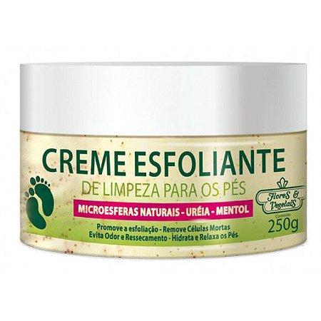 Flores & Vegetais - Creme Esfoliante de Limpeza para os Pés 250g
