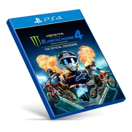 Monster Energy Supercross - The Official Videogame 4 - PS4 - Mídia Digital