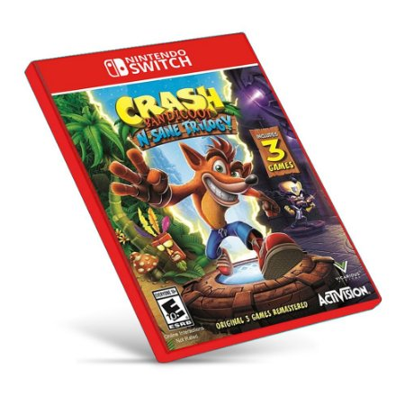 Crash Bandicoot N. Sane Trilogy - Nintendo Switch - Mídia Digital