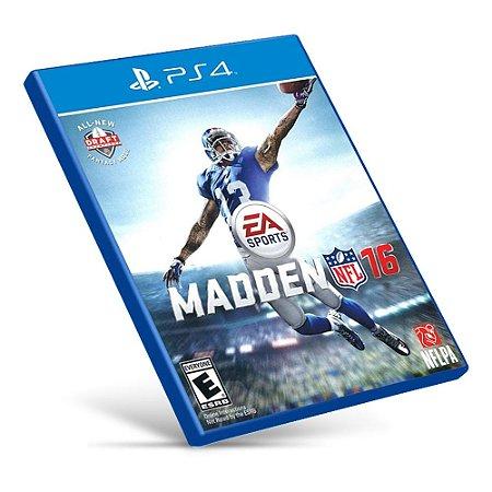 Madden NFL 16 - PS4 - Mídia Digital